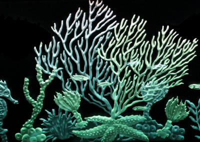 etched glass coral reef
