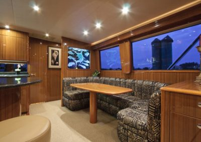 etched glass yacht dinette